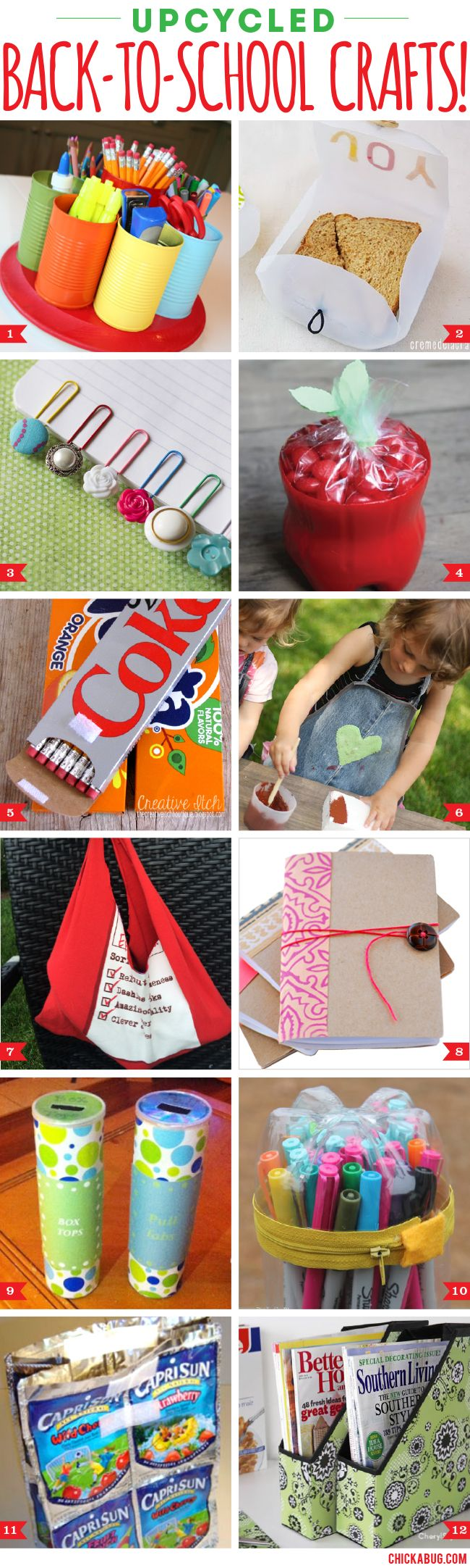 Upcycled Back-To-School Crafts