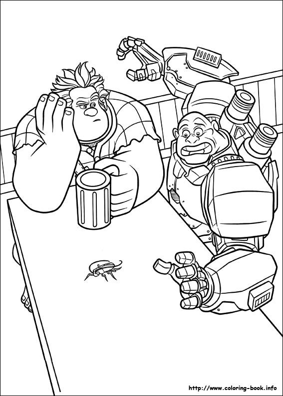 65 best Disney Wreck it Ralf coloring pages Disney images