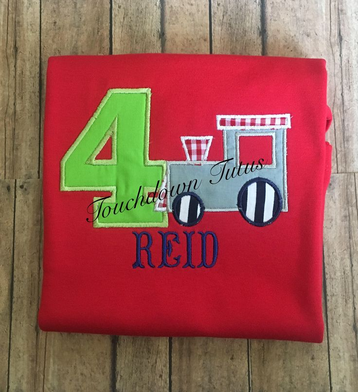 A personal favorite from my Etsy shop https://www.etsy.com/listing/527700609/train-birthday-shirt-pick-your-number-1