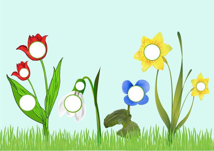 Весенние цветы, игра с пуговицами