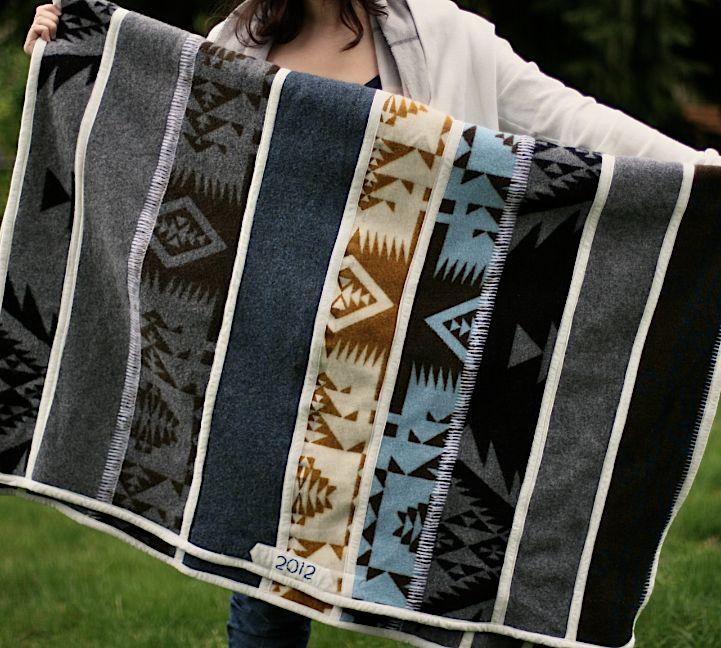 Habit of Art: Making a blanket from Pendelton scraps