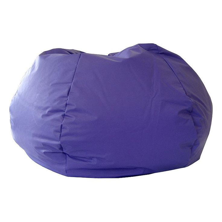 Extra Large Faux Leather Bean Bag Chair, Purple