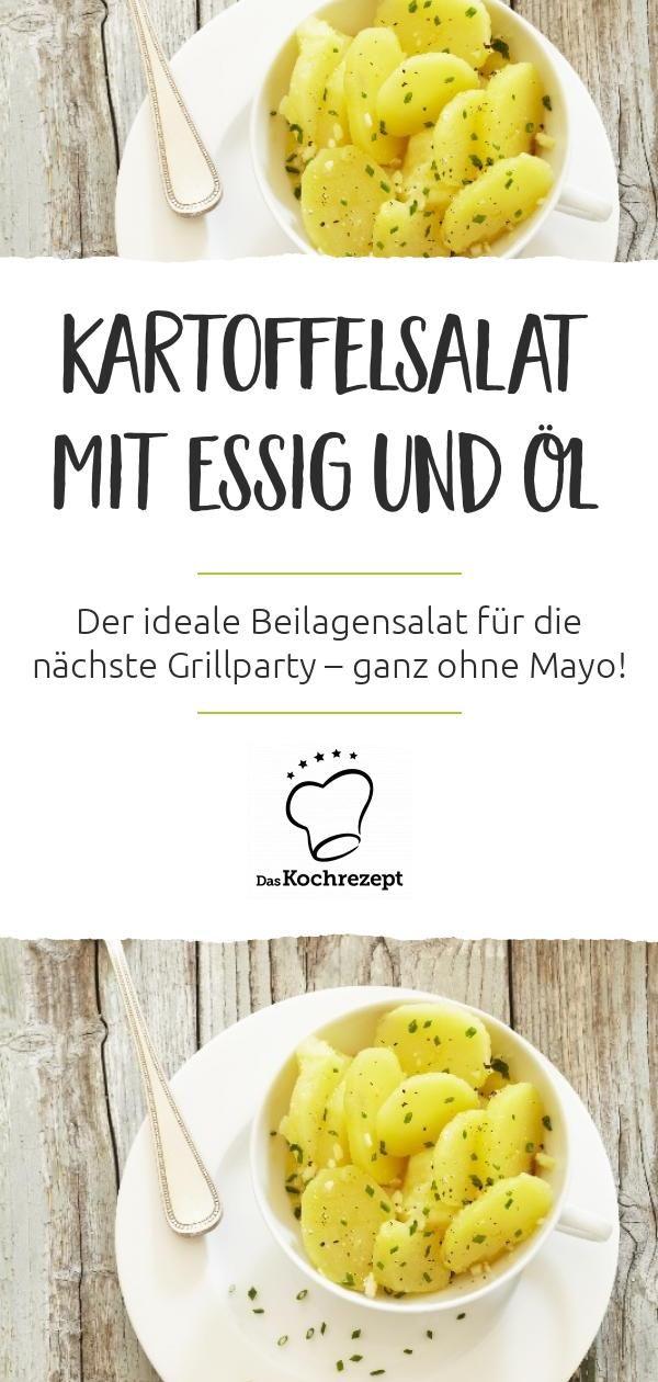 Kartoffelsalat Mit Essig Und öl Rezept In 2019 Kartoffel Salat