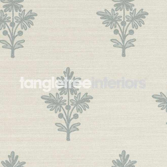 Tussah Flower wallpaper from Zoffany - PAW03005 - Bleached/Blue