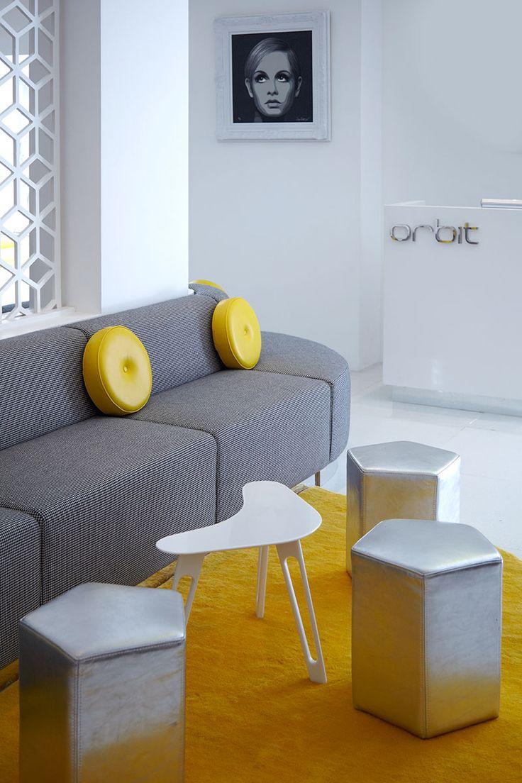 Lobby at Luna2 studiotel, Bali. Interior & furniture design by Melanie Hall. #interiordesign #melaniehalldesign #retro