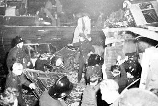 At 8:19 a.m. on Oct. 8, 1952, an express train crashed into the rear of a local at Harrow and Wealdstone station in London. Seconds later, a third train traveling in the opposite direction hit the wreckage. The accident claimed 112 lives. The Ministry of Transport concluded the express train passed a caution and two danger signals heading into the station.