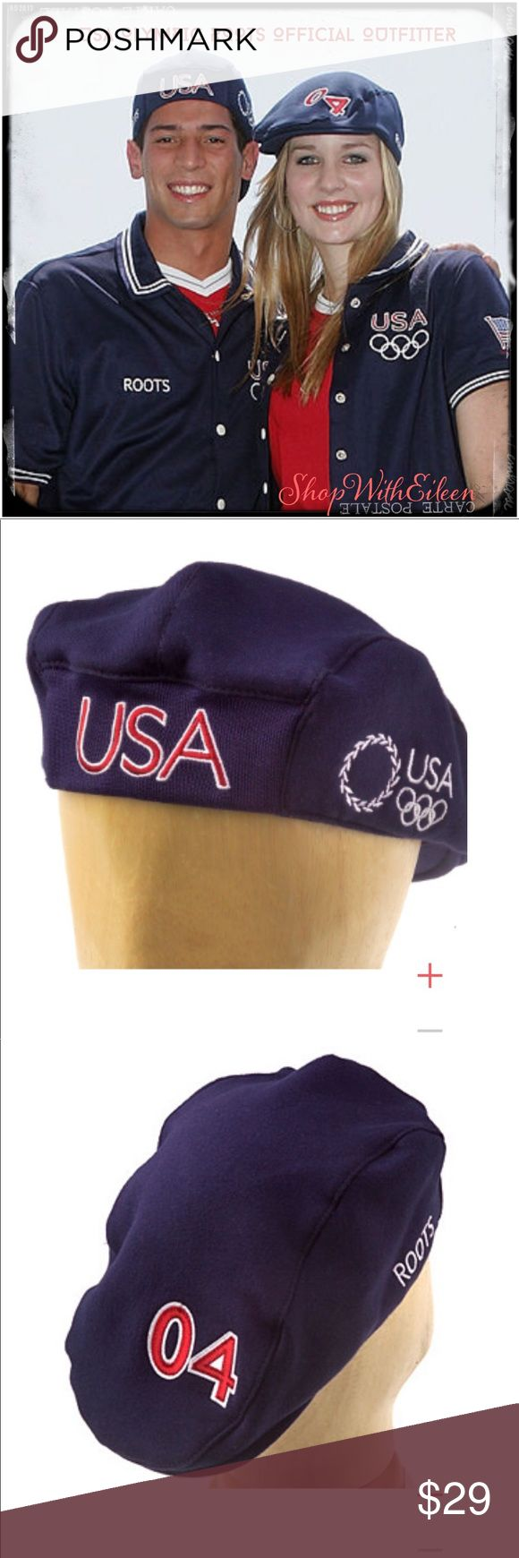 TEAM USA 2004 OLYMPICS Parade Hat By ROOTS USA OLYMPICS ROOTS 2004 Parade HAT  🇺🇸The front proudly displays an embroidered USA in red & white. Created especially for the Athens Games, the 2004 Look of the Team logo, featuring a wreath USA, & the 5 ring Olympic emblem, is embroidered in white on the left. The right side displays Roots--an official outfitter of the 2004 US Olympic team--stitched in white. To commemorate the Olympic year, a red and white 04 is embroidered on the back. 80%…