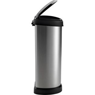 Buy Curver 40 Litre Deco Touch Top Kitchen Bin - Silver at Argos.co.uk, visit Argos.co.uk to shop online for Kitchen bins