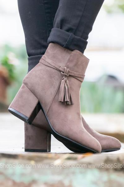 cbb7888fa9a3a Aria Mocha Suede Booties | Shoes Shoes Shoes | Pinterest | Suede ...