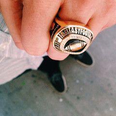 FantasyJocks Fantasy Football Championship Ring Trophy