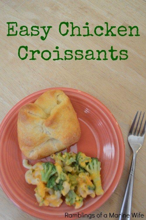 Easy Chicken Croissants
