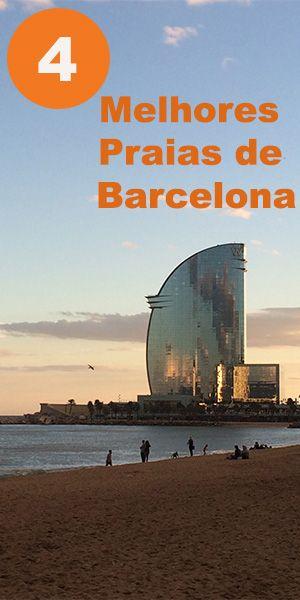 Barcelona tem 10 praias, mas aqui seleciono as 4 melhores da cidade. #Barcelona #praias