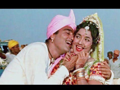 Radhike Tune Bansuri Churayi, Sunil Dutt, Mohammed Rafi - Beti Bete Devotional Song - YouTube