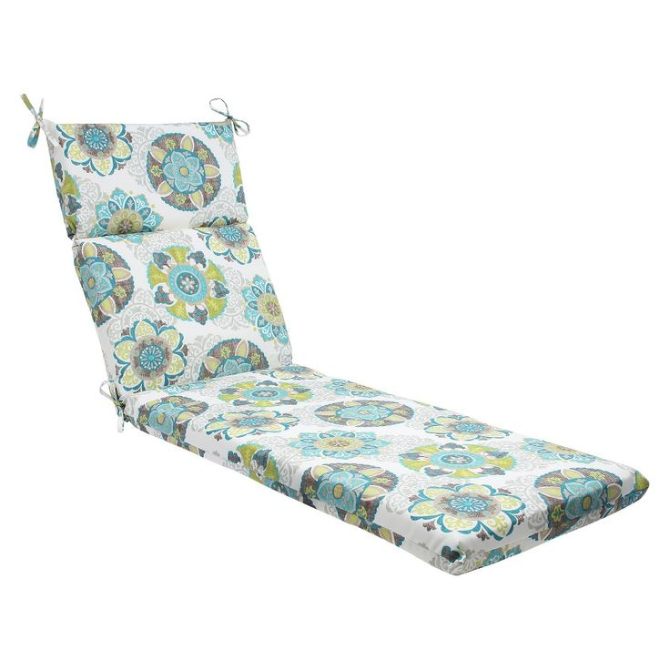Pillow Perfect Allodala Outdoor Chaise Lounge Cushion - Blue