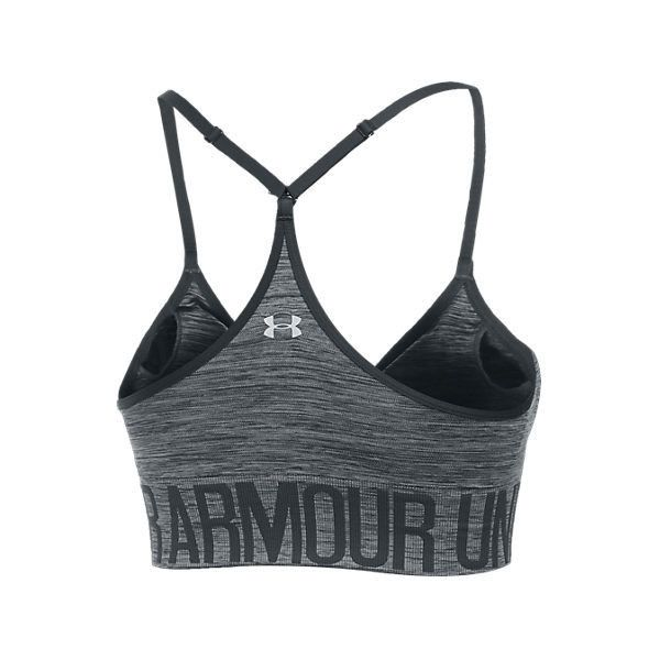 Under Armour Women's HeatGear Seamless Sports Bra ($35) ❤ liked on Polyvore featuring activewear, sports bras, adjustable sports bra, under armour, under armour sportswear, seamless sports bra and strappy sports bra