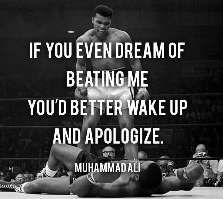 Yo conozco a Muhammad Ali.  Muhammad es mi inspiro para boxeo y uno des mis favorito boxeador.