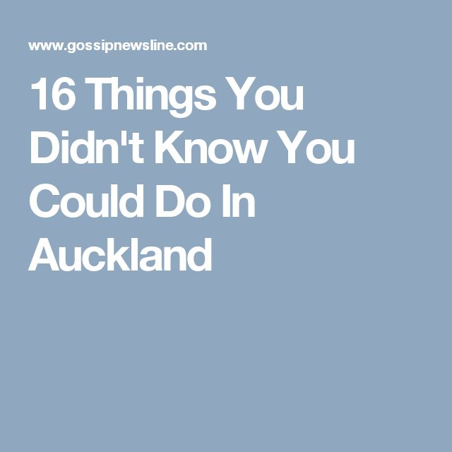 16 Things You Didn't Know You Could Do In Auckland