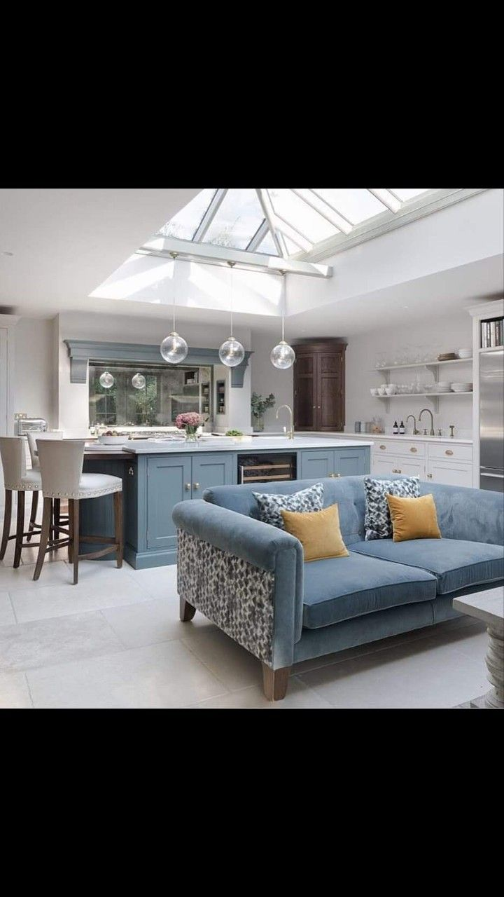 Like The Colour Of The Kitchen Units Open Plan Kitchen Living
