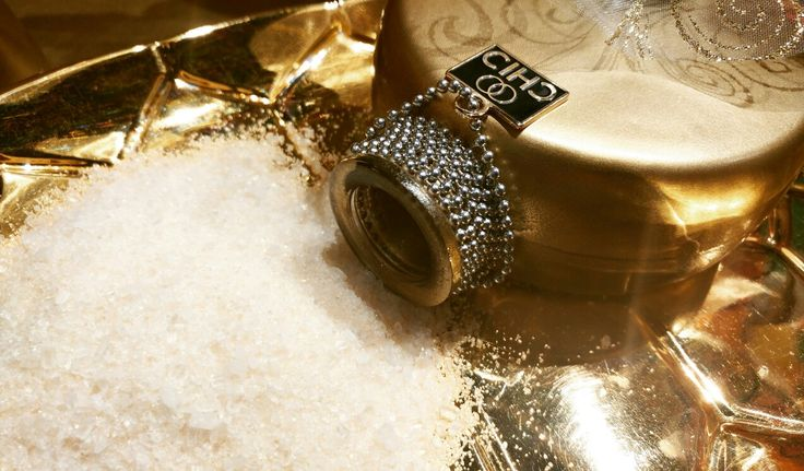 Therapeutic Bath Salt Blend with GOLD 24 karat mica. Shine with CHIC.  Chanel #5 Aroma oil.