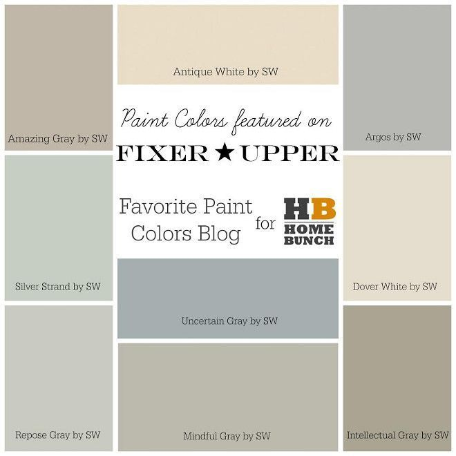 Joanna Gaines Sherwin Williams Paint Colors