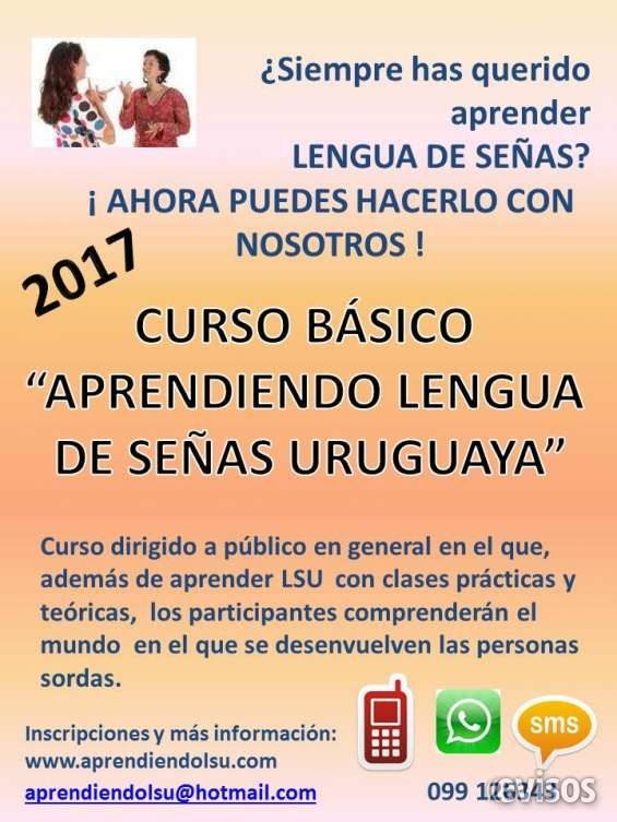"Curso básico ""Aprendiendo Lengua de Señas Uruguaya""  CURSO BÁSICO ?APRENDIENDO LENGUA DE SEÑAS URUGUA ..  http://centro.evisos.com.uy/curso-de-lengua-de-senas-uruguaya-lenguaje-de-id-101023"