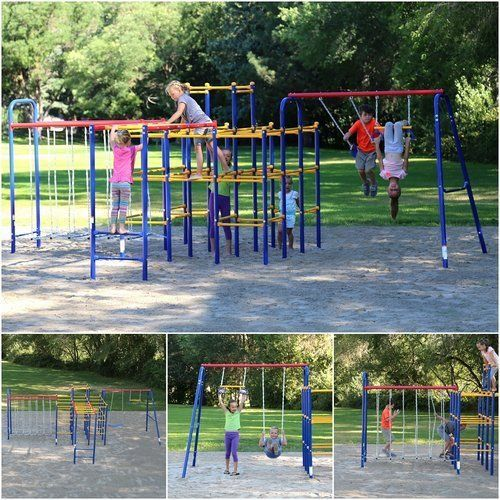 Outdoor-Play-Climpers-Sports-Kids-Jungle-Gym-Backyard-Fun-Party-Swing-Set-Custom