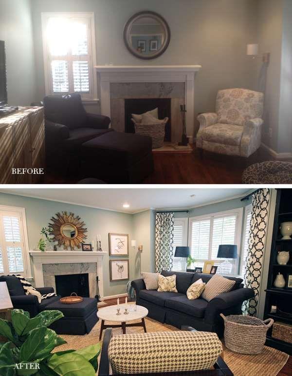 pin von whistiques auf b e f o r e a f t e r pinterest wohnzimmer und vorher nachher. Black Bedroom Furniture Sets. Home Design Ideas