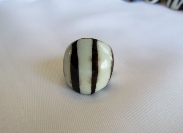 Shared Treasures Boutique -  African Polished Cow Bone Ring  - Mud Design -  Size 7.00, $16.50 (http://www.sharedtreasuresboutique.com/african-polished-cow-bone-ring-mud-design-size-7-00/)