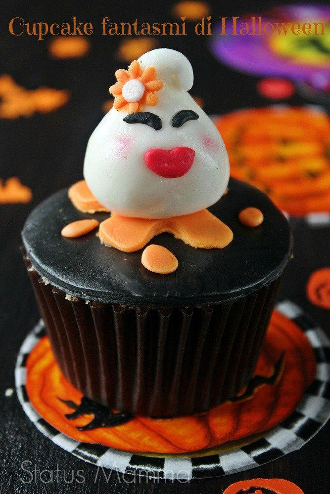Cupcake fantasmi di Halloween di pasta da zucchero   Status mamma