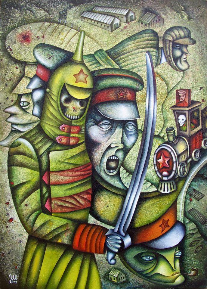 Demons by Eugene Ivanov. #eugeneivanov #gulag #genocide #solzhenitsyn #camps #russian #archipelago #prison #soviet #russia #war #freedom #stalin #putin #lenin #human_rights #gulag_archipelago #@eugene_1_ivanov