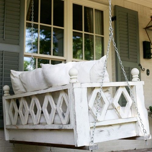 HammMade Modern Hanging Swing Bed For Porch