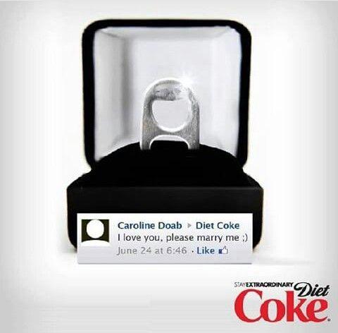 Wedding ring diet coke
