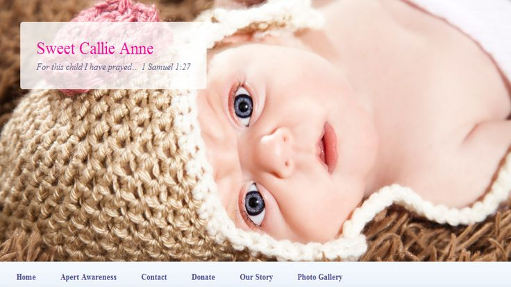 Callie Anne has Apert Syndrome. Read her story here.