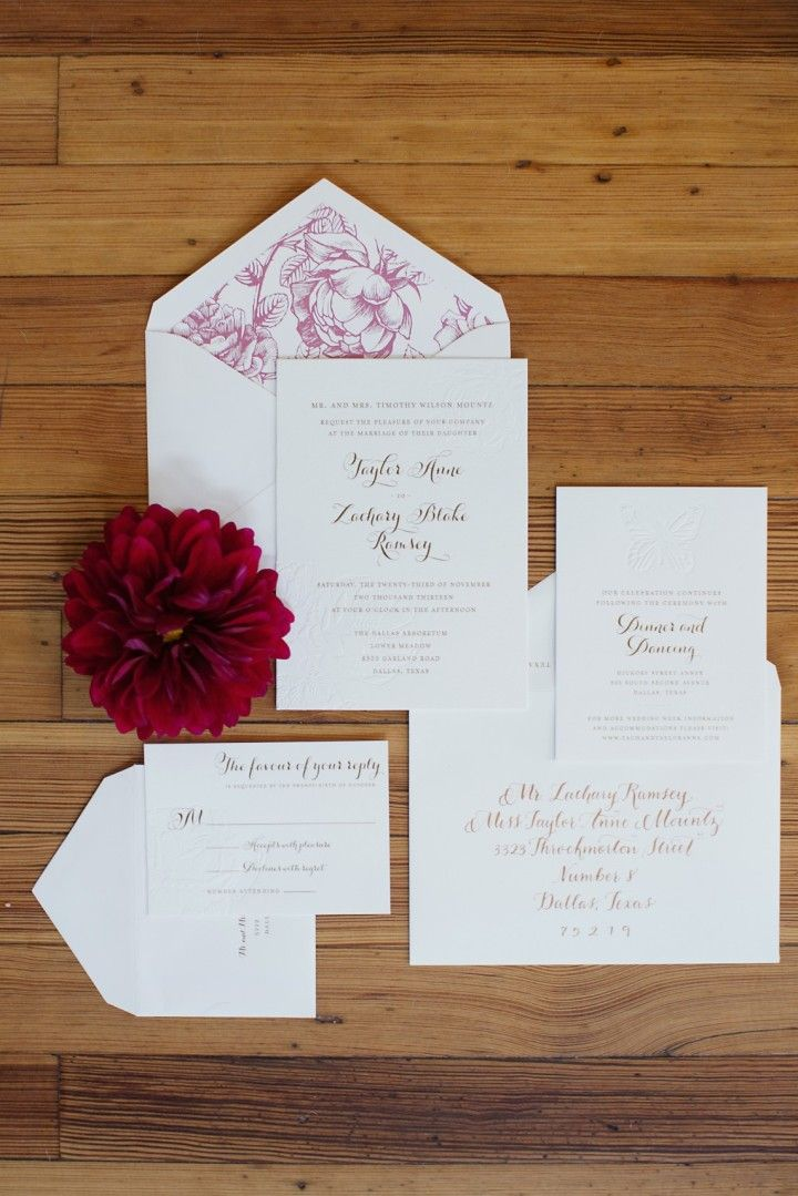 Colorful Rustic Dallas Wedding from Sarah Kate - wedding invitation idea