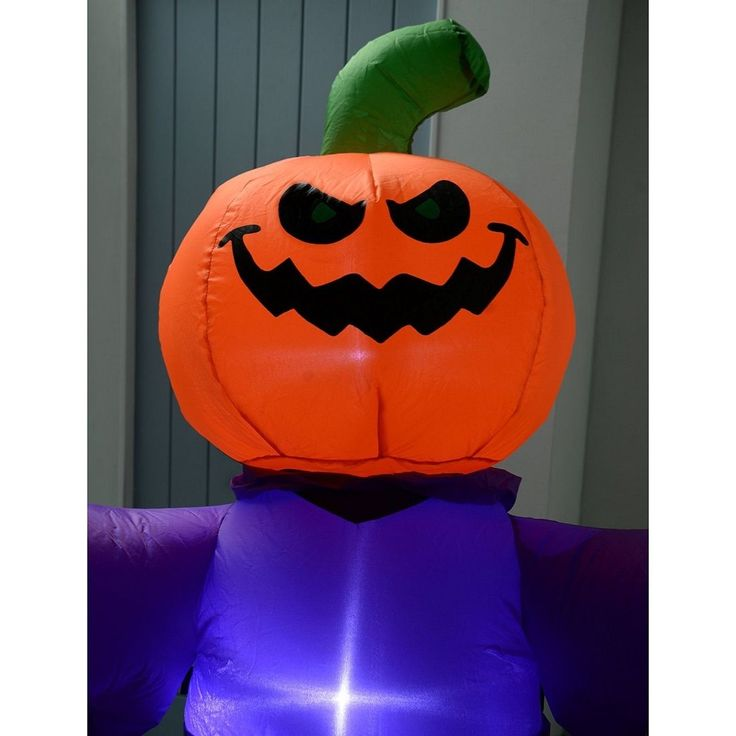 inflatable halloween airblown in door out decorations scary lighted pumpkins led - Inflatable Halloween Yard Decorations