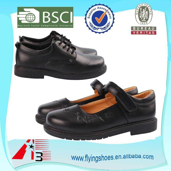 """""""customize kids school student shoes , boys children leather school uniform shoes , black girl school shoes"""""""