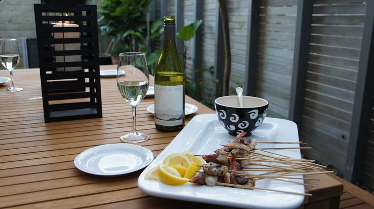 """Prawn and chorizo-skewers - these were highly rated and the combination was a """"marriage made in heaven""""! #afreerangelife @Annabel Langbein"""