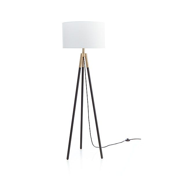 Hyde Brass And Bronze Metal Tripod Floor Lamp Reviews Crate