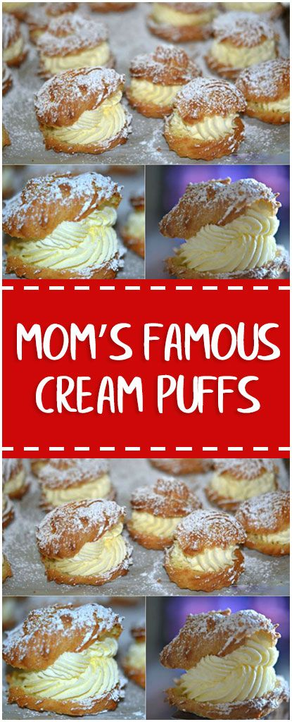 Mom's Famous Cream Puffs #monms #cream #puffs #foodlover #homecooking