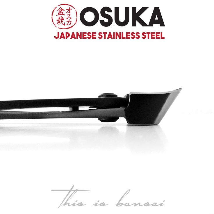 • OSUKA Bonsai Branch Cutters (Bonsai Concave Cutters)  • Length – 180mm Shohin  • Finish – Silver  • Material – High Quality Japanese Stainless Steel