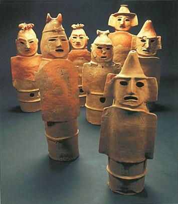 The Kofun Period Art Haniwa Terracotta Clay Figure Seven