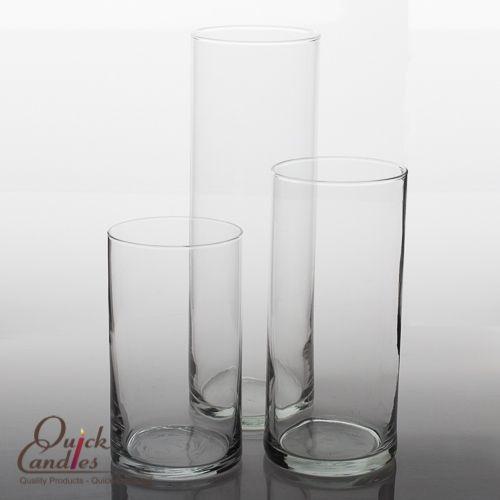 """Cylinder Floating Candle Vase Set of 3. 6"""", 7.5"""", and 10.5"""". $9.99 per set."""