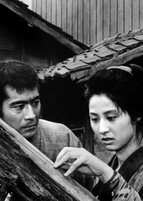 Toshirō Mifune and Kyōko Kagawa in The Lower Depths (Akira Kurosawa - 1957)