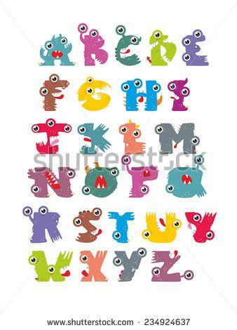 A vector illustration of alphabet animal from A to Z/monsters, preschool, alphabet, letterpress, vector, typescript, symbol, studding, learning, illustration, icon, collection, colorful, text, set, letters, education, art, zoo, cartoon, reading, animal