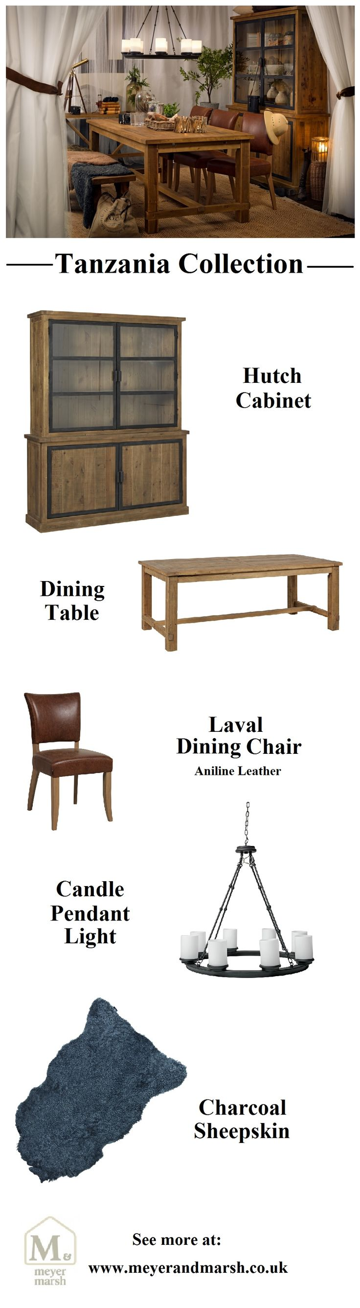 Tanzania Dining Collection @ Meyer & Marsh #meyerandmarsh #diningroom #homedecor