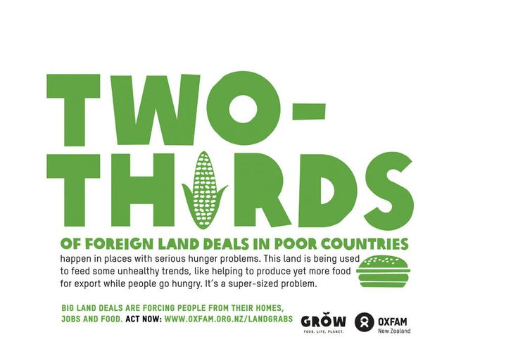 Two thirds of foreign land deals in poor countries happen in places with serious hunger problems