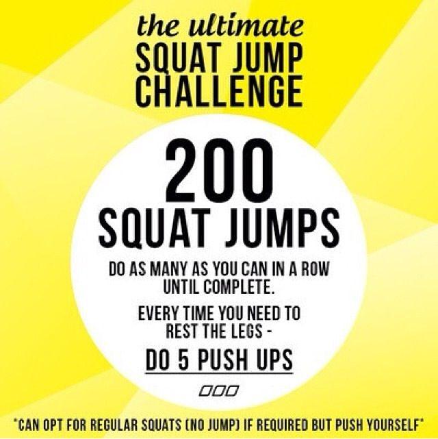 squat challenge   Workouts & Tips   Pinterest