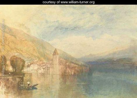 Oberhofen on Lake Thun, Switzerland - Joseph Mallord William Turner - www.william-turner.org