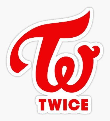 Twice red logo Sticker