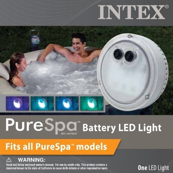 Intex Purespa Battery Powered Multi Colored Led Light For Bubble